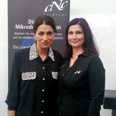 Beauty Messe München Oktober 2013. Aydan Witzlinger und Frau Prautzsch, Fa. CNC