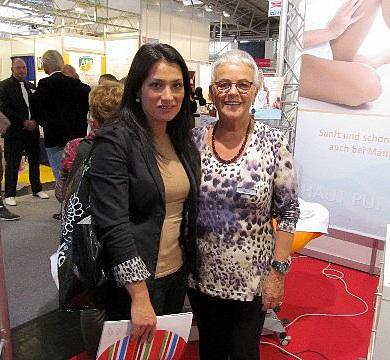 Beauty Messe München 2012. Aydan Witzlinger und Frau Lorenz
